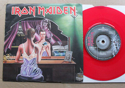 "Iron Maiden Twilight Zone (Red) 7"" Red Vinyl With Wrathchild (Light Crease On Co"