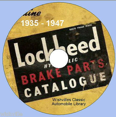 Lockheed Brakes Parts Information  Circa 1935 - 1947 DVD