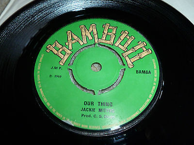"""JACKIE MITTOO-Our Thing VINYL 7""""  REGGAE BAMBOO TOP COPY"""