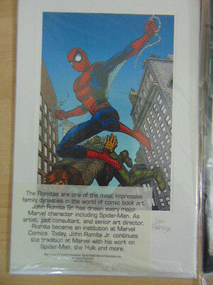 Amazing Spider-Man Litho Polybagged and signed by both John Romita Jr AND Sr !!!