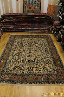 All Over Floral Pattern Signed Kashmar Persian Oriental Area Rug Carpet 10X13