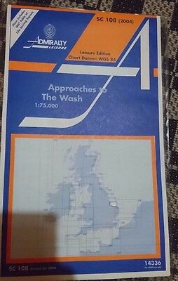 Admiralty Chart SC 108 Approaches to The Wash  Sailing Marine Navigation 2004