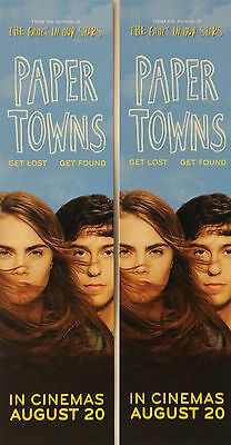2  PAPER TOWNS FILM BOOKMARKS NAT WOLF CARA DELEVINGNE based on John Green novel