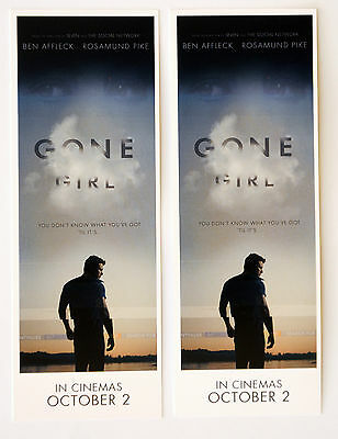2 X Gone Girl  Bookmarks - Ben Affleck Rosamund Pike - Gone Girl Film Movie
