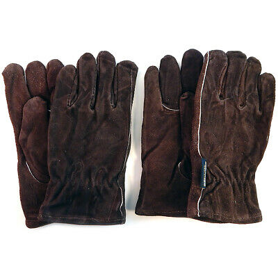 West Chester 2 Pair Leather Gloves Medium Cold Weather Brown 988KPW/M