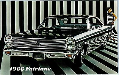 AUTOMOBILE  Advertising   1966   FORD FAIRLANE   Car COOL GRAPHICS Postcard