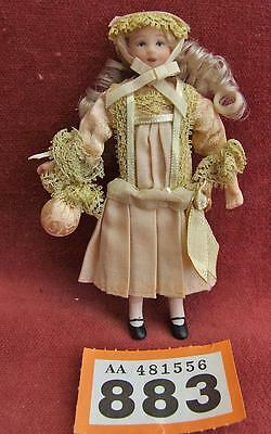 OR883 Dolls house girl doll, Edwardian costume 12th scale