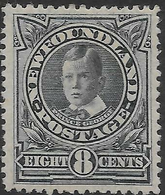 NEWFOUNDLAND 1911 8c greenish blue, mint hinged. SG 123a. Cat.£95.