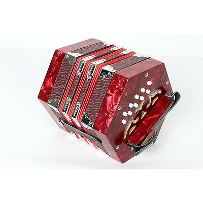 Musician's Gear 20-Button Concertina Red 190839037930