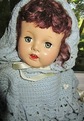 Ideal Baby Doll 22 inch soft body handmade outfit 1950's P-200