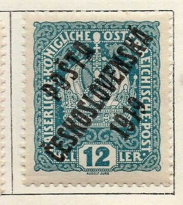 Czechoslovakia 1919 Early Issue Fine Mint Hinged 2h. Optd 130344