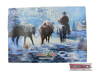 Leanin Tree Christmas 20 Cards Box Set THE COWBOY WAY