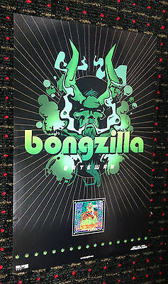 BONGZILLA Gateway 11x17 promo poster STONER 2sided Relapse Today Is The Day