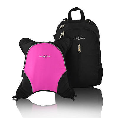 Obersee Rio Backpack Diaper Bag With Detachable Cooler - Black / Pink