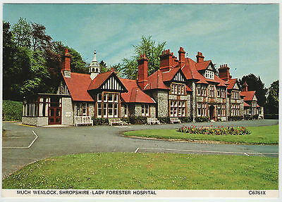 MUCH WENLOCK SHROPSHIRE LADY FORESTER HOSPITAL 80s POSTCARD UNUSED JUDGES C6761X