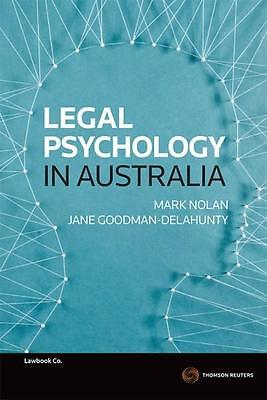 NEW Legal Psychology in Australia By Mark Nolan Paperback Free Shipping