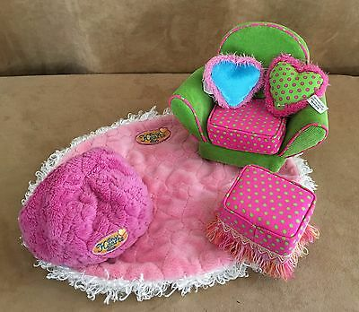 Only Hearts Club Furniture lot playset rug chair pillow bean bag stool doll