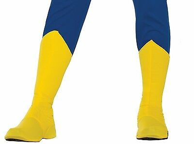 Adult Superhero Yellow Adult Boot Tops Shoe Covers Halloween Costume Accessory