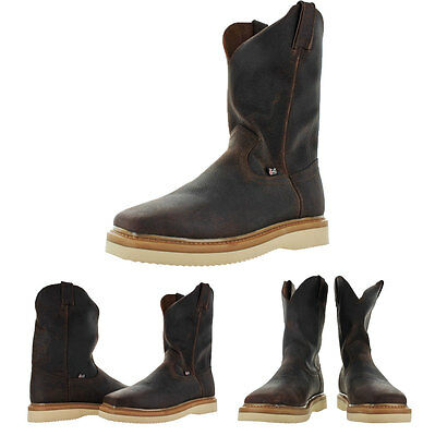 Justin Original Men's Pull On Square Toe Work Boots Wellington Western
