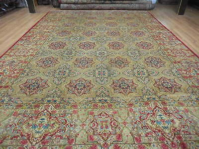 Ca1930s VG DY ANTIQUE PERSIAN RASHID FAROKHI LAVAR KERMAN 10x14 ESTATE SALE RUG