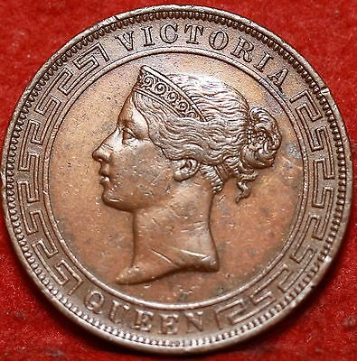 1870  Ceylon 5 Cents Foreign Coin Free S/H