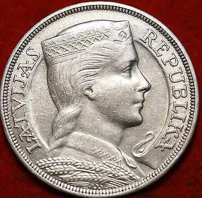1931 Latvia 5 lats Silver Foreign Coin Free S/H