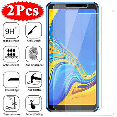2X Tempered Glass Screen Protector For Samsung A3 A5 2017 A7 A9 A6 A8 Plus 2018