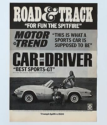 1974 Triumph Spitfire 1500 Advertisement Sports Car  Convertible AD Headline Rev