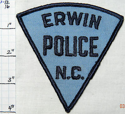 North Carolina, Erwin Police Dept Patch