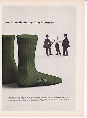 Original Print Ad-1960 You're ready for anything in ADLERS! GREEN SOCKS/DUELLERS