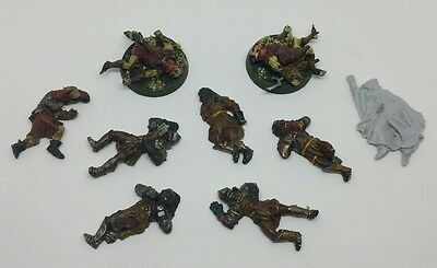 9 Uruk-Hai & Orc casualties metal+plastic models bad mordor LOTR The Hobbit OOP