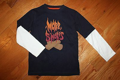 NWT Gymboree Smore Style 4T Navy Blue Fire More Smores Shirt Top