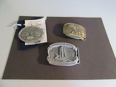3 Mining Related Belt Buckles Lot 2