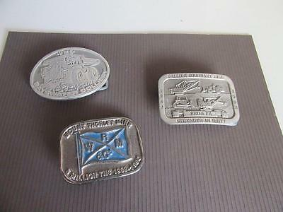 3 Mining Related Belt Buckles Lot 7