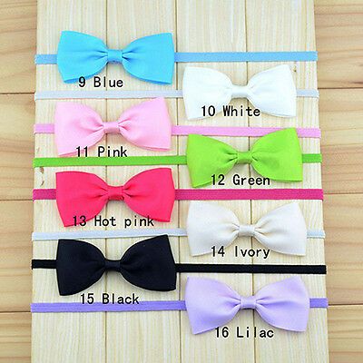 10Pcs Baby Girl Cute Bow Headband Newborn Hair Band Headdress Headwear Dainty