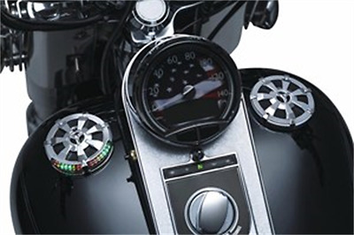Kuryakyn Alley Cat LED Fuel and Battery Gauge - Chrome 7381 HARLEY-DAVIDSON®