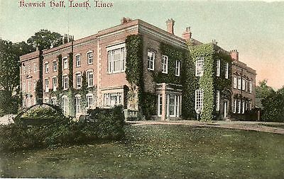 Kenwick Hall,Louth,Lincolnshire.Edwardian Postcard.See Scan