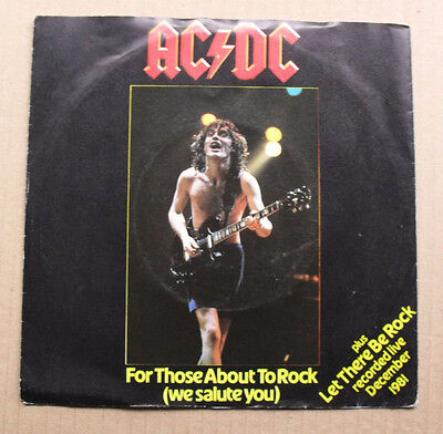 "Ac/dc For Those About To Rock 7"" With Let There Be Rock - Live (Light Use On Rec"