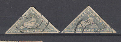 Two very nice old South African Triangular issues