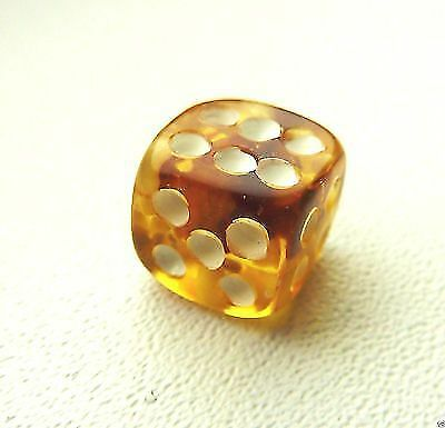 Handmade Baltic Amber Game Dice 10 mm (a337)