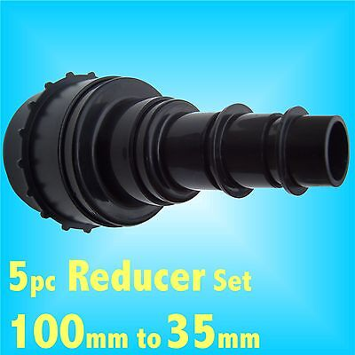 5pc Reducer set 100mm - 35mm Dust Extraction Hose Charnwood SIP Record extractor