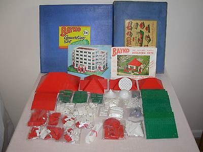 COMPLETE 1940/50's No 4 SET, WITH EXTRA ROOFS & OTHER EXTRAS