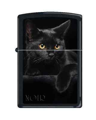 Zippo 5134, Black Cat, Black Matte Finish Lighter, Full Size