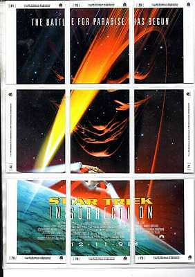 Star Trek Insurection The For Paradise Has Begun Cards 9 Cards Forming Picture