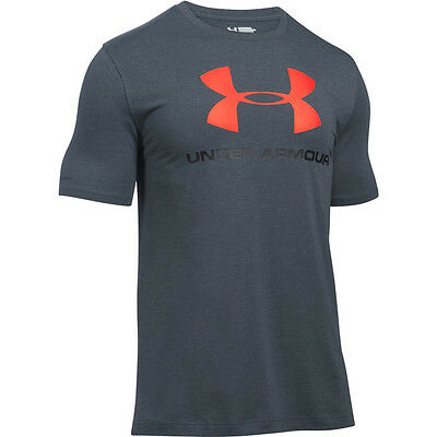 Under Armour Charged Cotton Sportstyle Logo T-Shirt gray black 1257615-016 Sport