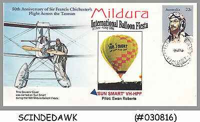 Australia - 1998 Mildera International Baloon Fiesta Special Cover With Speical
