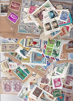 World Assortment 1000 On Paper Stamps