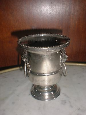 Porte Bougie Ou Bougeoir De Table Style Vase Medicis Metal Argente