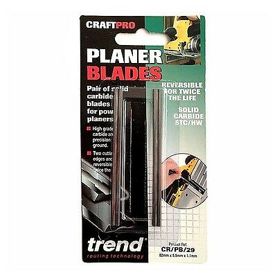 Trend CR/PB29 Carbide Planer Blades for Power Planers NEW