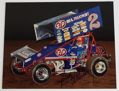 "Sprint car racing signed photo STP Oil Treatment Andy Hillenburg  8"" x 10"""